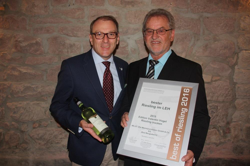 Edition Valentin Vogel – Best Riesling in Food Retailing 2016